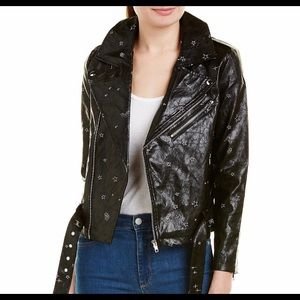 🛍Honey Punch Black Faux Leather Motorcycle Jacket